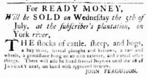 Jun 29 - Virginia Gazette Purdie and Dixon Slavery 2