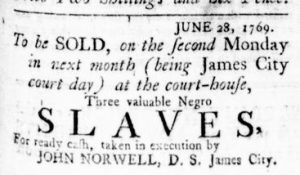 Jun 29 - Virginia Gazette Rind Slavery 1