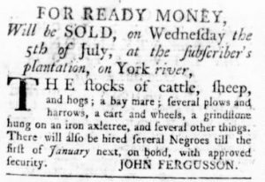 Jun 29 - Virginia Gazette Rind Slavery 2