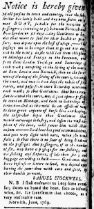 Jun 30 - 6:30:1769 New-London Gazette