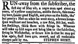 Jun 5 - New-York Gazette Weekly Mercury Slavery 3