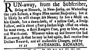 Jun 5 - New-York Gazette Weekly Mercury Supplement Slavery 1