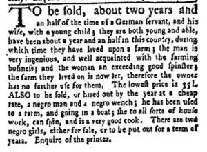 Jun 5 - New-York Gazette Weekly Mercury Supplement Slavery 3