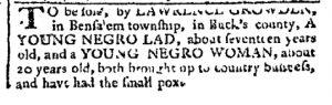 Jun 5 - Pennsylvania Chronicle Slavery 1