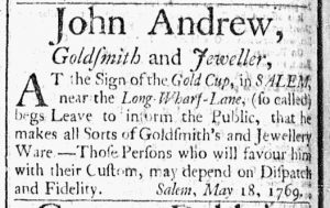 Jun 6 - 6:6:1769 Essex Gazette