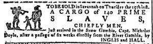 Jun 7 - Georgia Gazette Slavery 1