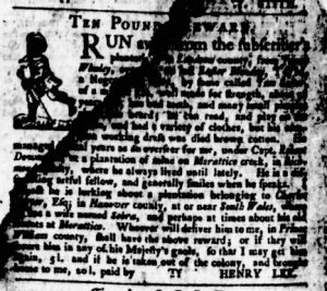 Jun 8 - Virginia Gazette Purdie and Dixon Slavery 8