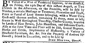 Aug 10 - Pennsylvania Gazette Slavery 1