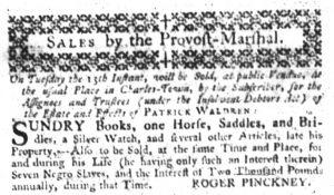 Aug 10 - South-Carolina Gazette Slavery 1