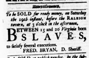 Aug 10 - Virginia Gazette Purdie and Dixon Slavery 1