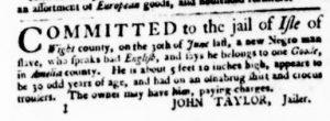 Aug 10 - Virginia Gazette Purdie and Dixon Slavery 2