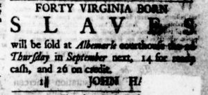 Aug 10 - Virginia Gazette Purdie and Dixon Slavery 3