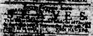 Aug 10 - Virginia Gazette Rind Slavery 1