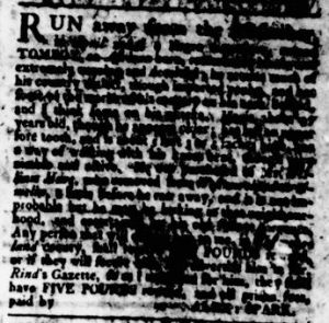 Aug 10 - Virginia Gazette Rind Slavery 2
