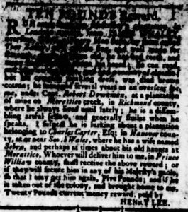 Aug 10 - Virginia Gazette Rind Slavery 3