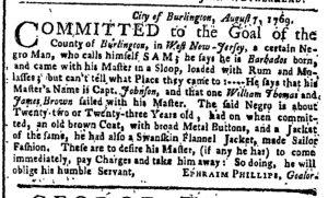 Aug 14 - New-York Gazette or Weekly Post-Boy Slavery 1