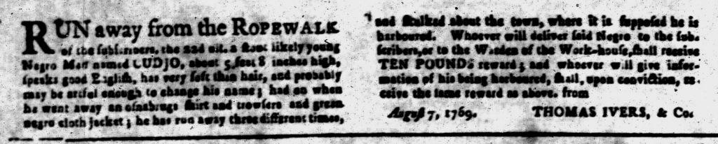 Aug 14 - South-Carolina and American General Gazette Slavery 1