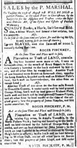 Aug 14 - South-Carolina and American General Gazette Slavery 2