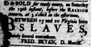 Aug 17 - Virginia Gazette Purdie and Dixon Slavery 2