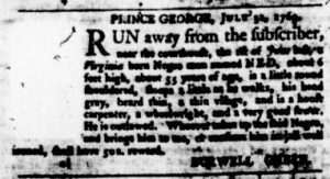 Aug 17 - Virginia Gazette Purdie and Dixon Slavery 4