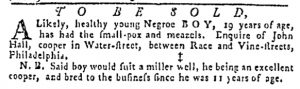 Aug 3 - Pennsylvania Gazette Slavery 1