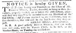 Aug 3 - South-Carolina Gazette Slavery 1