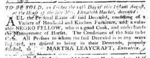 Aug 3 - South-Carolina Gazette Slavery 4