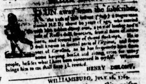 Aug 3 - Virginia Gazette Purdie and Dixon Slavery 3
