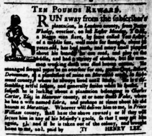 Aug 3 - Virginia Gazette Purdie and Dixon Slavery 9