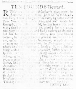 Aug 3 - Virginia Gazette Rind Slavery 8