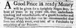 Aug 7 - Massachusetts Gazette Green and Russell Slavery 1