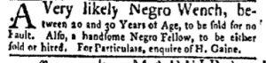 Aug 7 - New-York Gazette and Weekly Mercury Slavery 4