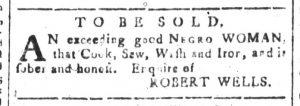 Aug 7 - South-Carolina and American General Gazette Slavery 1