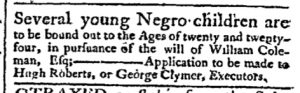 Jul 10 - Pennsylvania Chronicle Slavery 1