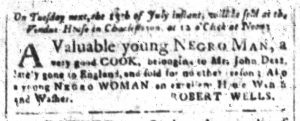 Jul 10 - South-Carolina and American General Gazette Slavery 2