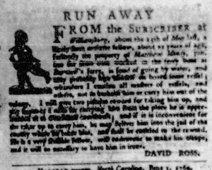 Jul 13 - Virginia Gazette Purdie and Dixon Slavery 3
