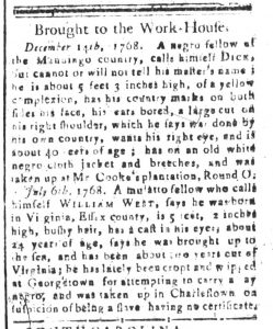 Jul 17 - South-Carolina and American General Gazette Slavery 6