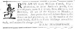 Jul 20 - South-Carolina Gazette Slavery 3