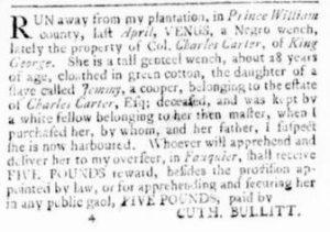 Jul 20 - Virginia Gazette Rind Slavery 5