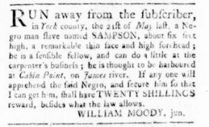 Jul 20 - Virginia Gazette Rind Slavery 6