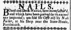 Jul 21 - 7:21:1769 New-Hampshire Gazette