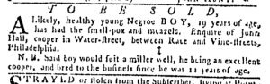 Jul 27 - Pennsylvania Gazette Slavery 7