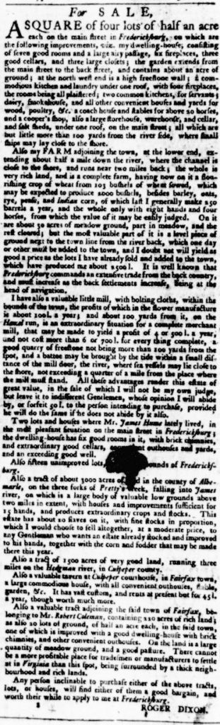 Jul 27 - Virginia Gazette Purdie and Dixon Slavery 7