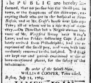 Jul 31 - Boston Chronicle Slavery 1