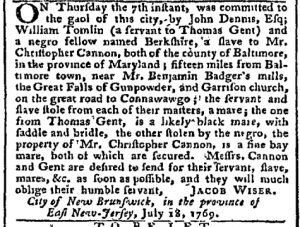 Jul 31 - Pennsylvania Chronicle Slavery 2