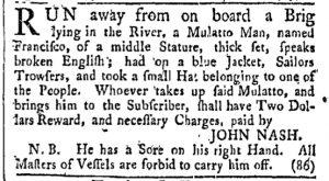 Jul 8 - Providence Gazette Slavery 1