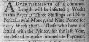 Aug 14 - 8:14:1769 Newport Mercury