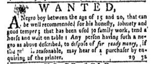 Aug 21 - New-York Gazette and Weekly Mercury Slavery 3