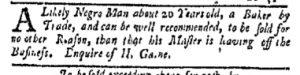 Aug 21 - New-York Gazette and Weekly Mercury Slavery 4