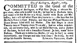 Aug 21 - New-York Gazette or Weekly Post-Boy Slavery 1